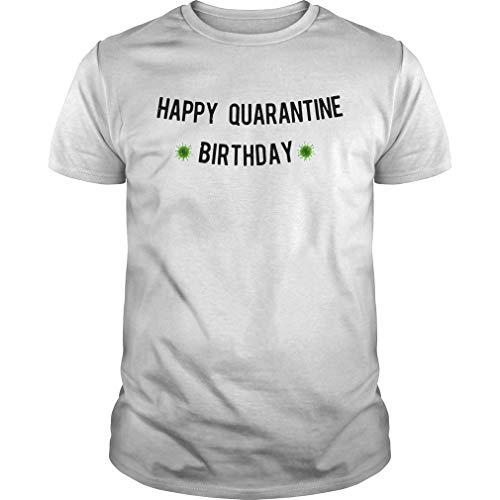 868771Happy Quarantine Birthday Banner Córónávírús Unisex Hot Trend Shirts For Women Unique Graphic Tees Classic Tees Teen Girls Art Tee Gift Ideas
