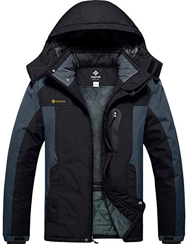 GEMYSE Chaqueta de Esquí Impermeable de Montaña para Hombre Abrigo de Invierno...