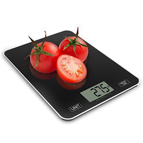 CORESLUX Balanza de Cocina Digital, balanzas para Alimentos con Plataforma de Vidrio...