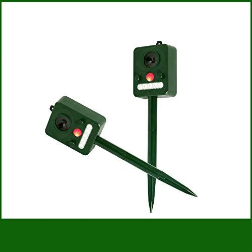 Disuasor De Zorro Asustadizo Para Gatos De Jardín Con Batería Solar, Repelente Ultrasónico Para Pájaros / Repelente Para Ratones De Exterior, 31x11 Cm, 2 Piezas