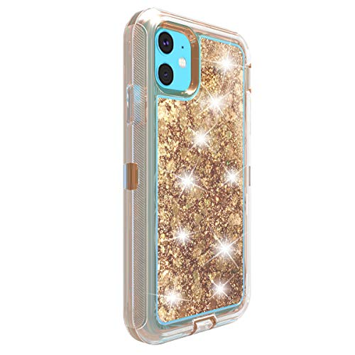 kkkie Funda con Purpurina Compatible con iPhone 11 Pro MAX Funda de Silicona Original Transparente patrón 360 Grados antigolpes Case Cover para iPhone 11 Pro MAX Clear Carcasa