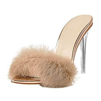 rose gold feather heels