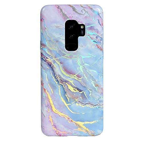 Velvet Caviar Compatible with Samsung Galaxy S9 Plus Case Marble for Women Girls - Cute Protective Phone Cases (Holographic Pink Blue)