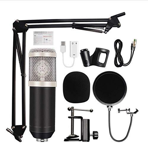NBSXR BM-800 condensator microfoon bundel, met verstelbare Mic Suspension schaar arm, metalen schokbevestiging en dubbellaags Pop Filter, voor Studio opname