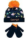 Peppa Pig Conjunto de gorro y guantes para niño George Pig Un tamaño