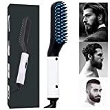 Beard Straightener, Electric Hair Beard Straightener, Men Hair Straightener, Beard straightener hot hair brush, Heated Beard Brush, 360 Swivel Cord, Adjustable Temperature