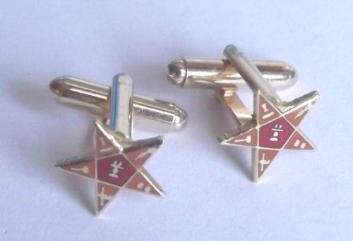 Orange Lodge ordre Découpez Boutons de manchette en forme d'étoile