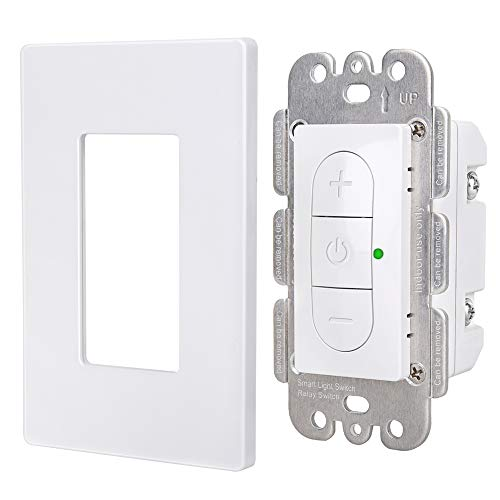 Smart Dimmer Switch for Dimmable LED,CFL,Incandescent Bulbs,WiFi Light Switch Remote Voice Control Compatible with Alexa and Google Assistant,Smart Life APP Wall Plate Included