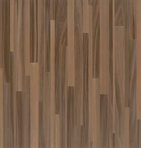 Klebefolie Perfect Fix® Parkett Braun, Holzfolie, Dekofolie, Möbelfolie, Tapeten, selbstklebende Folie, ohne Phthalate, keine Luftblasen, Natur-Holzoptik, 67,5cm x 2m, Stärke: 0,15 mm, Venilia 53348