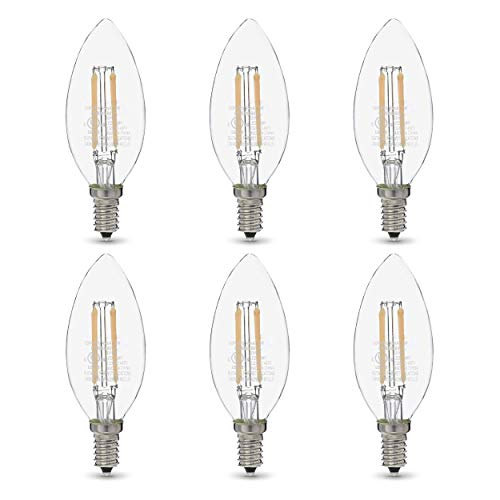 Amazon Basics 60W Equivalent, Clear, Daylight, Dimmable, 15,000 Hour...