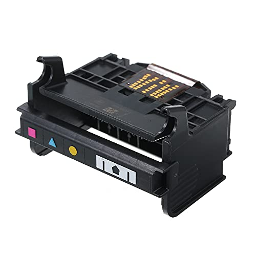 Fesjoy Cabezal de impresión para HP, Cabezal de impresión de 4 Ranuras para HP OfficeJet 920 6500 6000 6500A