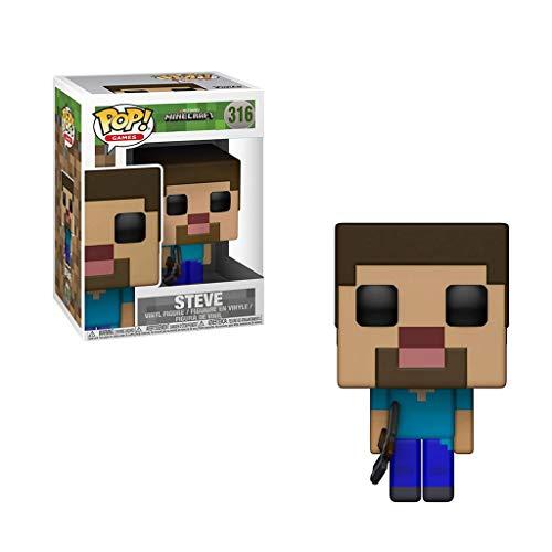 MMZ ¡Popular!Minecraft - Steve Vinilo de colección Estatuilla del clásico Juego de la Serie