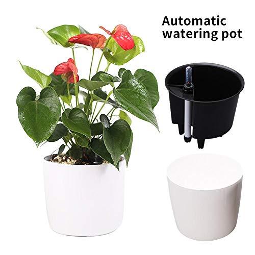 TRJGDCP Automatische irrigatie bloempot lui automatische wateropname bloempot hars milieuvriendelijke plantenpot groene plant