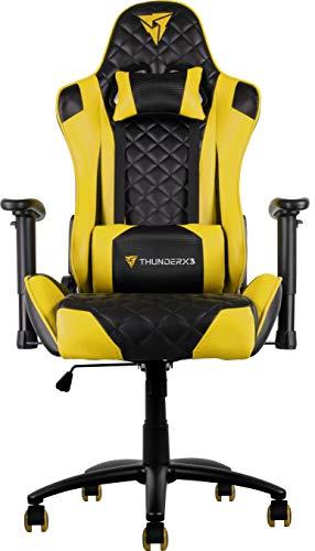Silla gaming amarilla ThunderX3 profesional