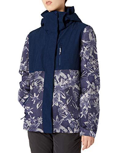 Roxy SNOW Women's Roxy Jetty Block Jacket, mid denim bleached flowers, M