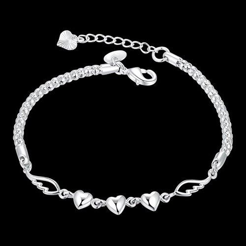 KaariFirefly Bracelets for Women, Love Bracelet Pendant Dress Up Jewelry Chain Ornaments