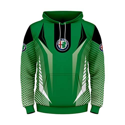 Cronell Story Unisex Langarm Hoodie 3D Digital International AL ROM Logo Print Sweatshirt Lässiges Sweatshirt (1,L)