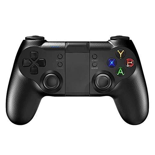 SMSOM Controlador de Juegos móviles, Bluetooth & 2.4g Gamepad inalámbrico, Joystick de Juego Adecuado para/Android/iOS/PC / PS3, para la mayoría de los Juegos Populares Gaming Grip