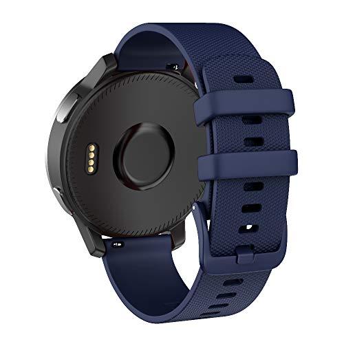 ISABAKE 22mm Armband für Garmin Vivoactive 4 / Active/Samsung Galaxy Watch 46 mm/Gear S3 Frontier/Classic Schnellwechsel-Silikon Ersatzarmband (Blau)