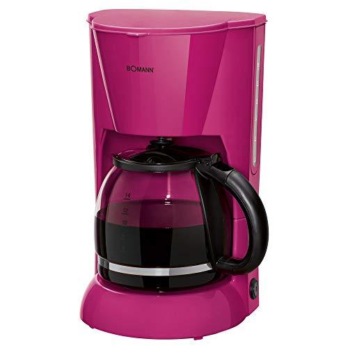 Bomann KA 183 CB Filterkaffeemaschine für 12-14 Tassen, Nachtropfsicherung, Warmhalteplatte, Abschaltautomatik, Wasserstandsanzeige, Brombeer
