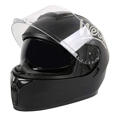 WESTT Storm X Motorrad-Integralhelm I Motorradhelm schwarz-matt I innovativer Smart-Helm I stoßfester Motorradhelm I Integralhelm Herren & Damen I Mopedhelm I ECE Zertifiziert I Größe M