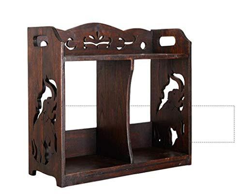 REGAL Bureau Petite étagère, Bureau en Bois Massif Petite étagère Bureau Simple Racks Bureau Table Petite bibliothèque Multifonctionnel Rangement Rack