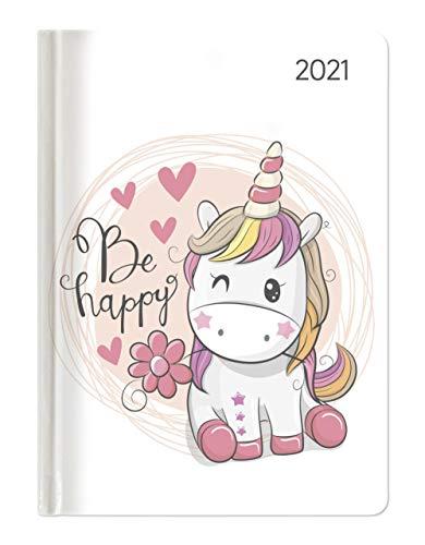 Alpha Edition - Agenda Settimanale Ladytimer 2021, Formato Tascabile 10,7x15,2 cm, Unicorno, 192 Pagine