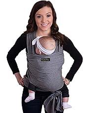 CuddleBug - Echarpe de Portage - Porte Bébé jusqu'à 16kg - Mains Libres - Couverture de Portage Taille Unique - Douce - Flexible - Cadeau Naissance (Gris)