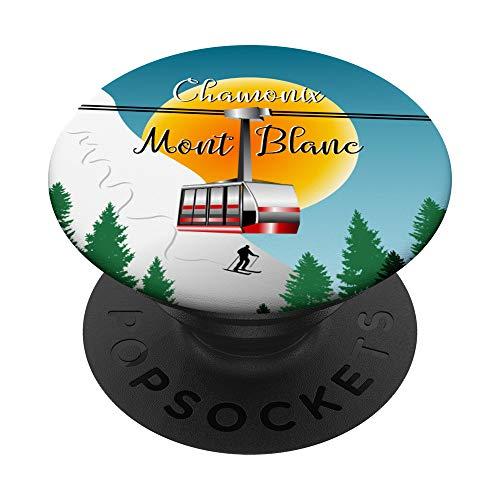 Mont Blanc - Póster de viaje de Chamonix PopSockets PopGrip Intercambiable