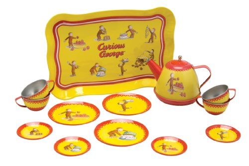 Schylling Curious George Tin Tea Set