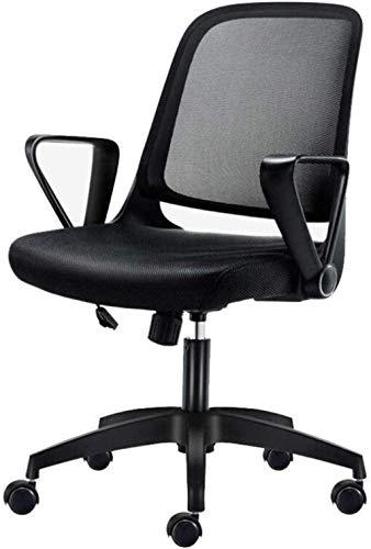 Silla giratoria de oficina, silla de cocina, taburetes de malla, respaldo alto, silla ejecutiva, ajustable, silla de escritorio de ordenador, color negro, tamaño: H (60-60,7 cm)