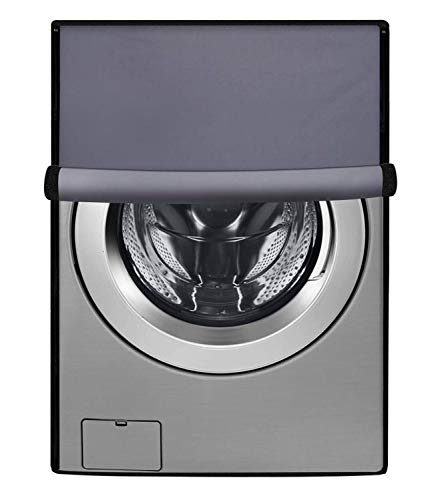 Amazon Brand - Solimo PVC Water Resistant Front Load Fully Automatic Washing Machine Cover, Grey