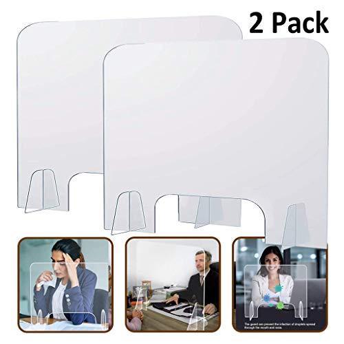 CFYP Plexiglas Plexiglasscheibe für Schreibtisch - Farblose Plexiglas Platten, Glasklar Plexiglas Schutzwand (2 Stück)