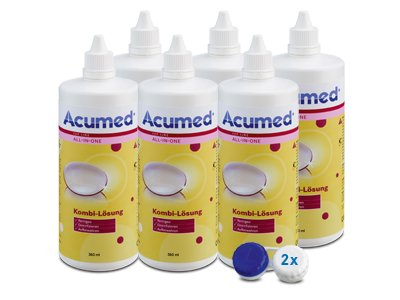 Acumed Kombilösung 6er Set 6x360ml, 2 Behälter