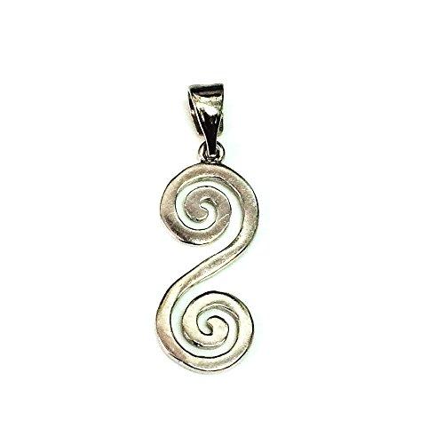 Anhänger Sterling-Silber 925 griechische Doppelspirale