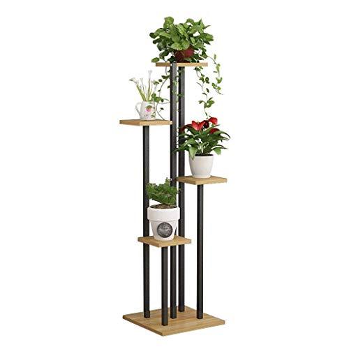 CCAN Creatieve Houten Bloemenrek Plantenstandaard Bloempot Bonsai Display Plank Opslag Rekken Outdoor Indoor Yard Tuin Patio Balkon, 4 Potten Houder Interessant leven