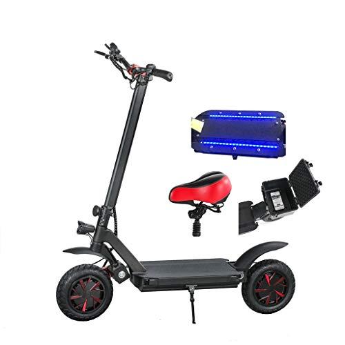 SXRKRZLB Bicicletas Scooter eléctrico Adulto Electric Scooter Scooter Plegable Scooter Vespa eléctrica Disponible para jóvenes para Trabajar al Viajero de la Ciudad (Size : 60V 20.8Ah-80KM)