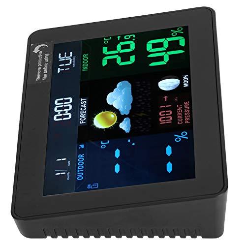 Denkerm Reloj Calendario, estación meteorológica, Reloj Despertador, Gran Pantalla Digital retroiluminada, termómetro Reloj higrómetro, para Calendario Digital Reloj meteorológico Kalender Digital
