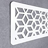 Cabecero Cama Decorativo Económico en PVC - Tipo Forja. Modelo - France (150cm x 60cm, Blanco)