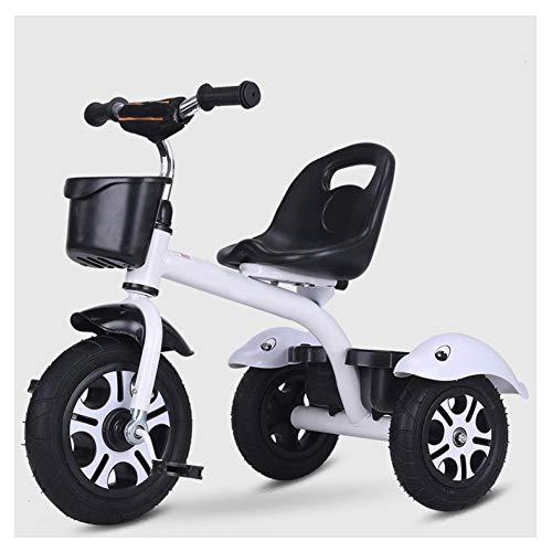 GIFT Premier Vélo Roue Molle Kids Tricycle Trike EVA, Siège Peut être Ajusté, Cadeau De Noël Nouvel an 2-6ans,E