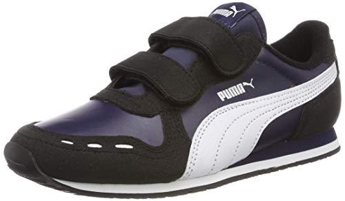 Puma Cabana Racer SL V PS, Unisex-Kinder Sneakers, Blau (Peacoat-Puma Black-Puma White), 32 EU (13 UK)