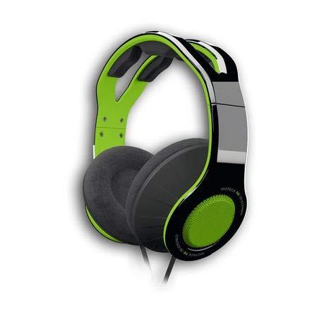 Gioteck - Tx30 - Cascos Gaming, Cable Audio Jack 3,5 Mm, Control de Sonido, Driver 40 Mm, Cascos con Microfono para Ps4, Xbox One, Nintendo Switch y PC (Verde y Negro) (Ps4)