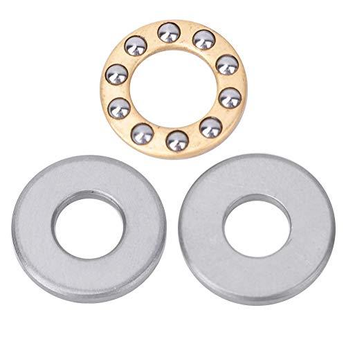 Cojinete de bolas de empuje de 10 piezas, juego de cojinetes planos de acero de cojinete de precisión de alta velocidad, para fabricación de maquinaria, instalación (F8-22M 8 * 22 * 7mm)