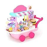 Renoble Spielhaus gesetzt Mini Candy Trolley Rollenspielset für Mädchen Ice Cream Candy Cart...