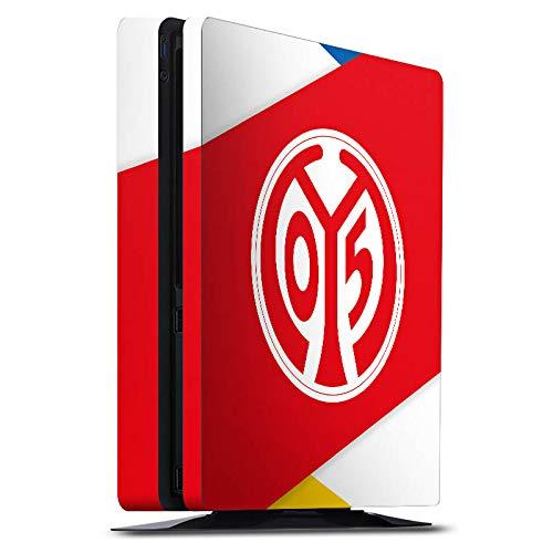 DeinDesign Skin kompatibel mit Sony Playstation 4 PS4 Slim Folie Sticker Fußball 1. FSV Mainz 05 E.V. Offizielles Lizenzprodukt