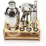 HTDHS Casa Helado Maker Machine Cocktail Set-12pcs Bar Kit Estante de Madera para Bartending Tool Cocktail Blender Baibao