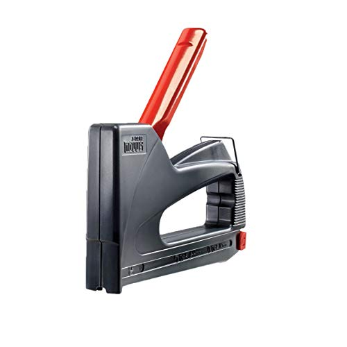 Novus Handtacker J - 02 creativ power, Großer Hobby-Tacker aus ABS-Kunststoff, Griffverriegelung und Hinterlademechanik, Für Feindrahtklammern und Rundklammern bis 14 mm Länge,  Ideal für den Einsatz