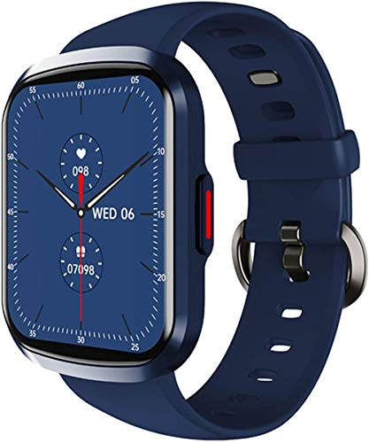 Reloj Inteligente Mujeres Frecuencia Cardíaca Monitor Full Touch Fitness Band Hombres Impermeable Deporte para IOS Android-Azul