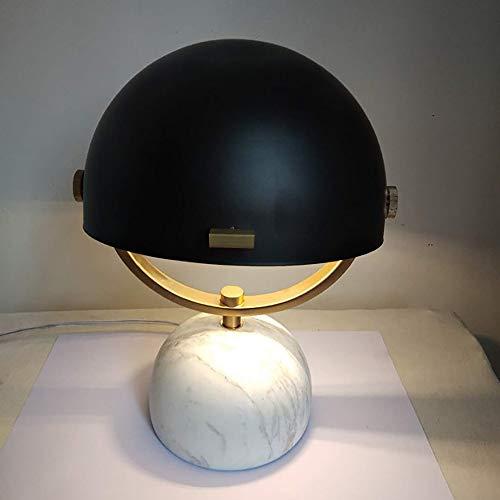 Lievevt Lámpara Escritorio Lámpara posmoderna Minimalista Retro Mesa de mármol lámpara luz de Lujo de Lujo Dormitorio Lindo Cama Creativa Moda Arte lámpara de Mesa 19 * 25 cm
