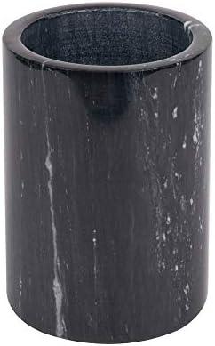 Marble Wine Bottle Cooler Natural Black Marble 6 x 4 Inch Elegant Wine Bottle Chiller product image